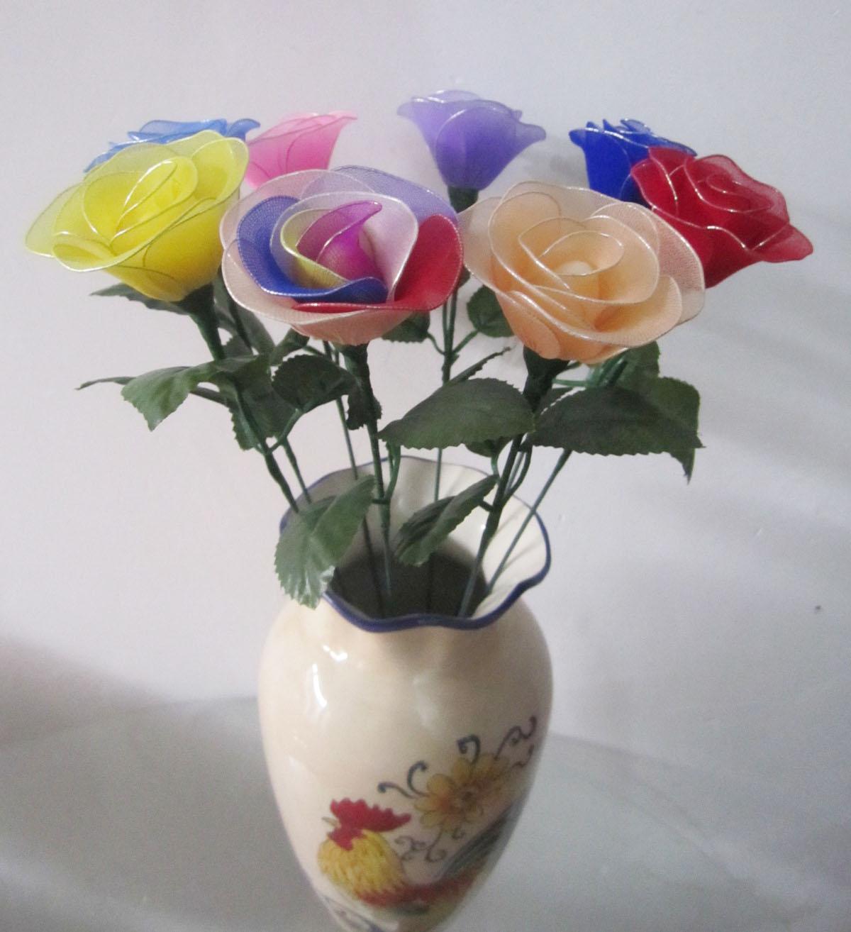 丝网花玫瑰花的制作_丝网花玫瑰有几种做法 _排行榜大全