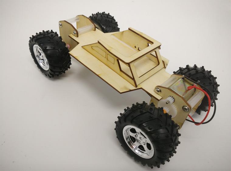 电动越野汽车模型制作 diy科技小发明学生科学实验手工材料科普图片