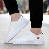 夏季小白鞋男士休闲皮鞋潮流透气英伦板鞋子韩版运动鞋秋新款单鞋