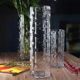 特花瓶落地花瓶百合水培加厚水晶客厅摆 富贵竹50厘米透明玻璃大