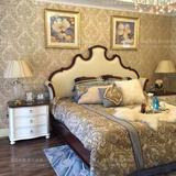 美式实木床1.5公主床1.8米双人床法式橡木床婚床北欧简约卧室家具