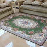 欧式地毯田园长方形客厅卧室床边毯满铺茶几垫玄关地垫门垫美式