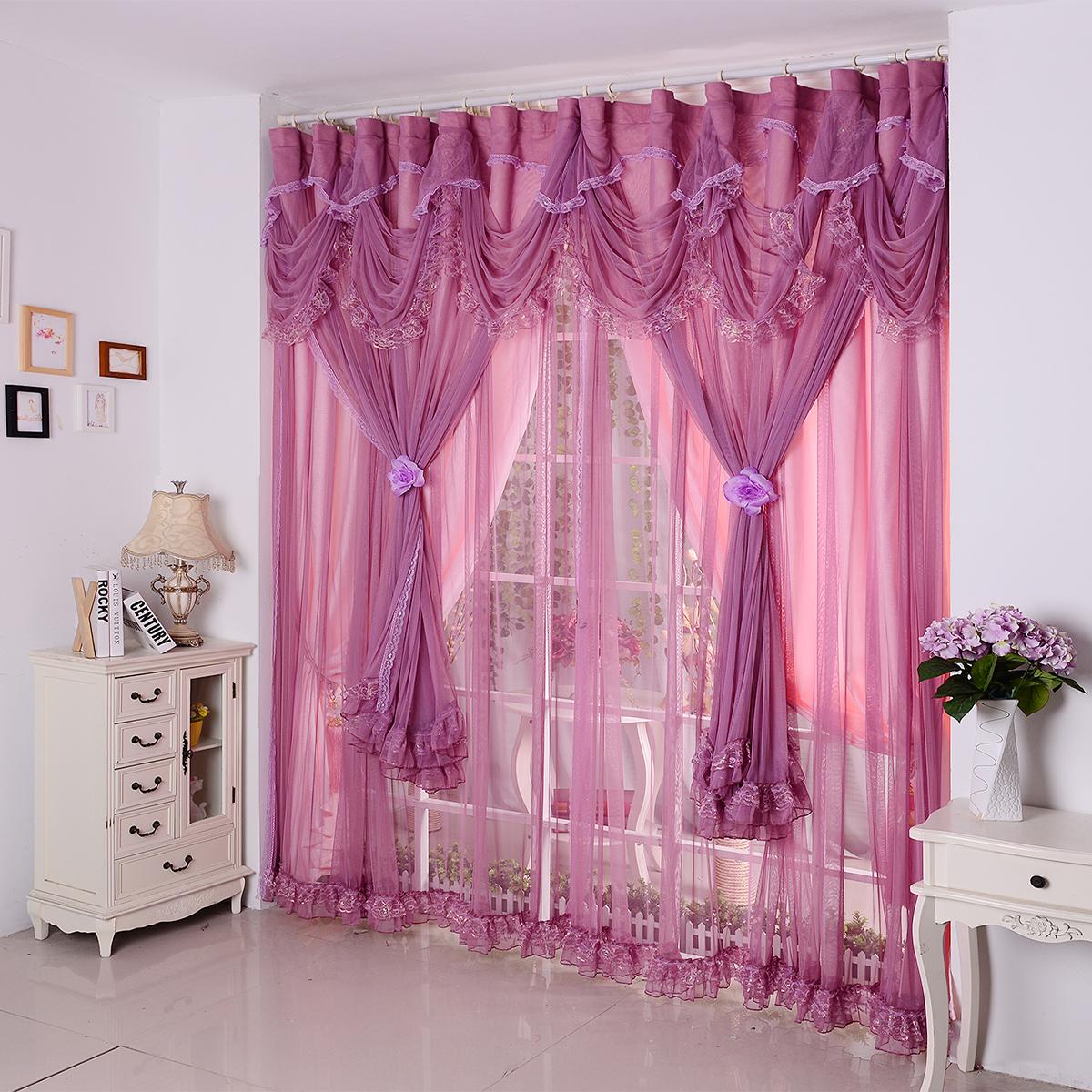 窗帘定制促销艺布时尚布艺垫欧式落地窗 客厅窗帘纱帘 飘窗酒红色商品图片