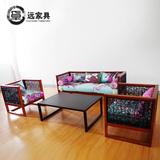 印尼藤沙发 藤椅沙发藤艺现代休闲三人组合沙发实木藤编客厅家具