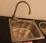 普乐美304不锈钢水槽 洗菜盆 单槽套餐JS208+PF7107龙头 特价包邮