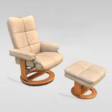 欧式休闲椅实木躺椅懒人沙发午休椅子老人椅美容美发椅旋转功能