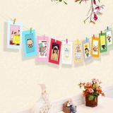 墙上装饰品DIY卡纸挂照片框麻绳相片夹创意纸相框悬挂照片墙挂墙