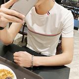 2016夏款男士休闲圆领TEE潮男韩版修身青少年短袖T恤男夏季半袖
