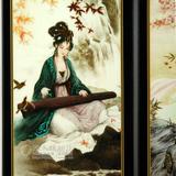 饰品商务礼品送老外老师木制中式古典小屏风家居客厅摆件工艺品装