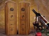 艺鸟 红酒木盒单支装 红酒礼盒 红酒盒 红酒包装复古酒盒通用版