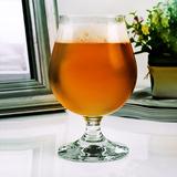 比利时进口啤酒杯 家用套装强化耐用郁金香布吕热大号玻璃酒杯