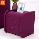 睿酷空间 现代时尚简约床头柜 小户型床边柜 布艺床头柜子 158