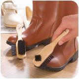 居家家 纯猪鬃毛刷鞋刷 刷鞋洗鞋子清洁刷 皮鞋上油翻毛皮的刷子