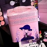 双层化妆包韩国可爱大容量专业化妆箱手提防水化妆品收纳包多层款