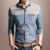 【天天特价】夏季新款男士薄款衬衣韩版修身青年男装纯棉衬衫大码