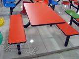加固 快餐桌椅 餐厅饭店餐桌椅 食堂肯德基连体餐桌椅 家具直销