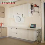 重庆订制家具现代简约白色整体橱柜定做 厨房石英石橱柜定制设计