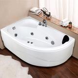 扇形浴缸亚克力三角浴缸小户异形浴缸恒温按摩浴盆1.2-1.7X0.9米