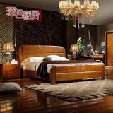 新款白色实木床1.2/1.5/1.8米家具高档婚床原木床简约气压高箱床
