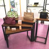 铁艺流水台店中岛桌展示架高低桌子包包展示桌组合服装店展示台