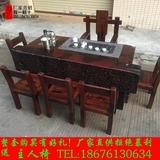老船木茶桌椅组合龙骨茶台实木功夫泡茶桌大堂室内外茶几古典茶几