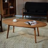 茶几实木简约北欧椭圆形矮桌日式小户型宜家创意现代白橡木咖啡桌
