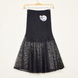 蕾丝鱼尾裙半身裙女夏高腰中长款弹力修身蓬蓬A字性感透视裙子潮