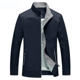 中年男士外套春秋款40-50岁立领休闲夹克衫中老年男装薄款爸爸装
