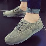 夏季新款男鞋老北京低帮舒适休闲鞋子透气耐磨运动鞋牛仔帆布鞋男