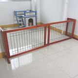 实木可伸缩狗栅栏 铁丝网 宠物围栏木 挡墙 门挡 可调节隔离门