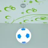 遥控LED灯篮球灯足球吊灯女男孩儿童灯卡通灯儿童房灯饰卧室灯具