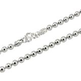 香港代购 铂金包银925纯银情侣男士女款项链男龙头佛珠圆珠链粗款