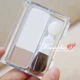 不用整的完美鼻型 CEZANNE/倩丽双色修容粉 带刷子 鼻影粉+高光粉