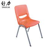 加厚强劲韧性彩色塑料学生培训椅 课桌椅 员工椅子会议椅职员椅