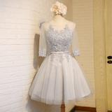 晚礼服2016春季新款婚礼伴娘团礼服短款显瘦伴娘服姐妹裙宴会礼服