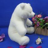 默奇极地海洋毛绒玩具北极熊公仔 坐北极熊布娃娃 玩偶 生日礼物