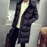 冬天韩版修身青年男士中长款棉衣外套加厚潮棉服加肥加大码棉袄