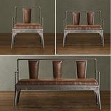 美式复古工业铁艺沙发椅酒吧咖啡厅阳台户外单人双人休闲沙发椅子