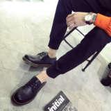 男士休闲鞋潮流系带皮鞋英伦复古潮鞋青少年大头鞋冬季新款男鞋子