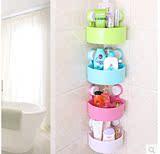 批发吸盘浴室置物架强力三角 壁挂卫生间置物架 卫浴厕所收纳架