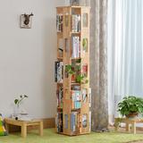 旋转书架实木简易书架书柜创意落地小书架置物架儿童学生书架特价