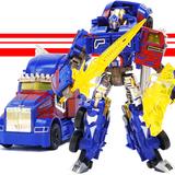 变形玩具金刚4 合金版擎天柱 大黄蜂合体汽车机器人儿童模型套装