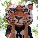 原宿老虎豹狮子猫咪可爱抱枕靠垫毛绒玩具超酷生日礼物喵星人靠枕
