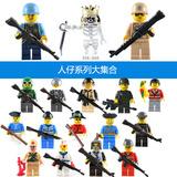 积木人仔配武器军事部队幻影忍者骷髅警察女孩拼装乐高人偶玩具