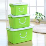 加厚手提塑料收纳箱衣服玩具整理箱厨房大小号储物周转内衣物盒子