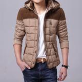 男士棉服修身外套冬季棉衣短款羽绒棉服青年男装轻薄保暖外衣学生