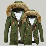冬季情侣棉衣男士棉服韩版修身学生外套青年中长款棉衣大码加厚潮