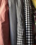 外贸平纹纯棉格子服装加工布料黑白红白小方格衬衣桌布diy面料
