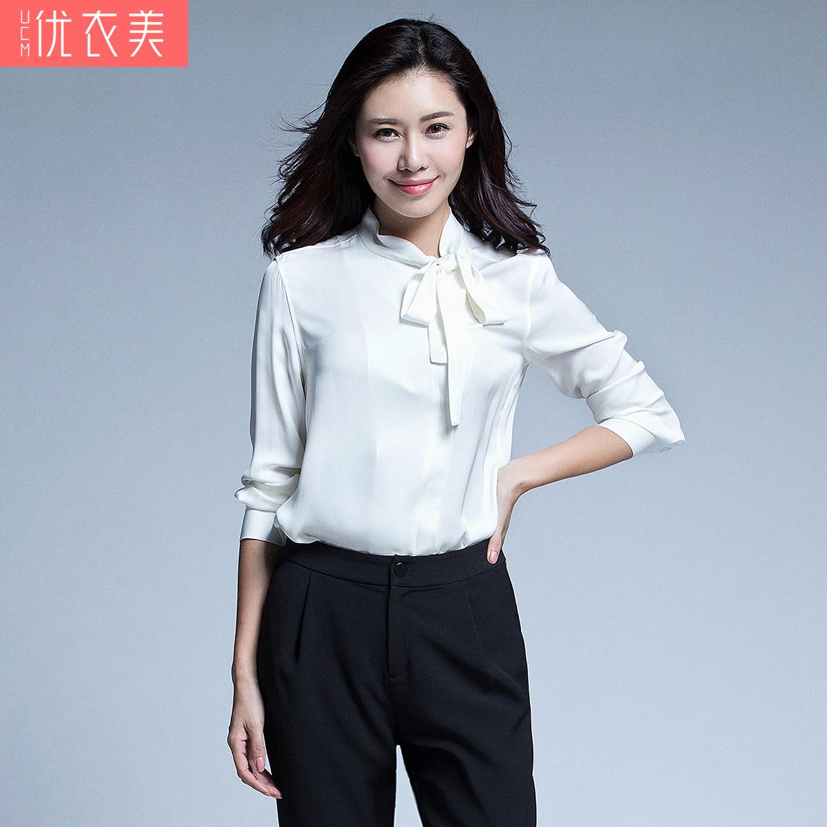 春季女职业衬衫立领
