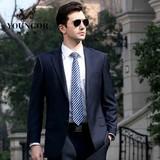 雅戈尔新款西服套装专柜正品男士商务正装藏青色羊毛休闲西装